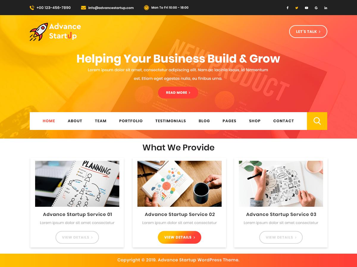 WordPress主题:Advance Startup