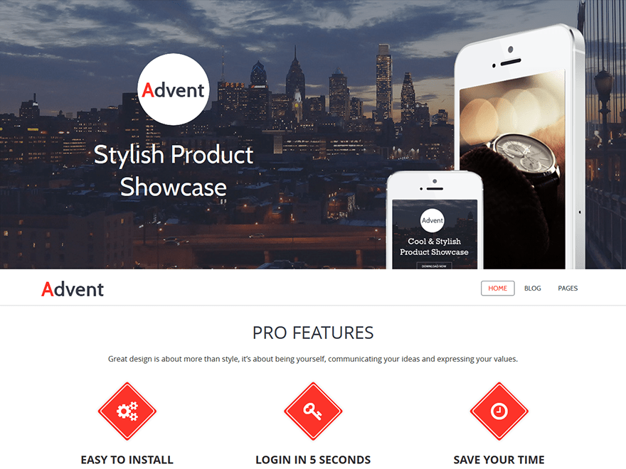 Advent free wordpress theme