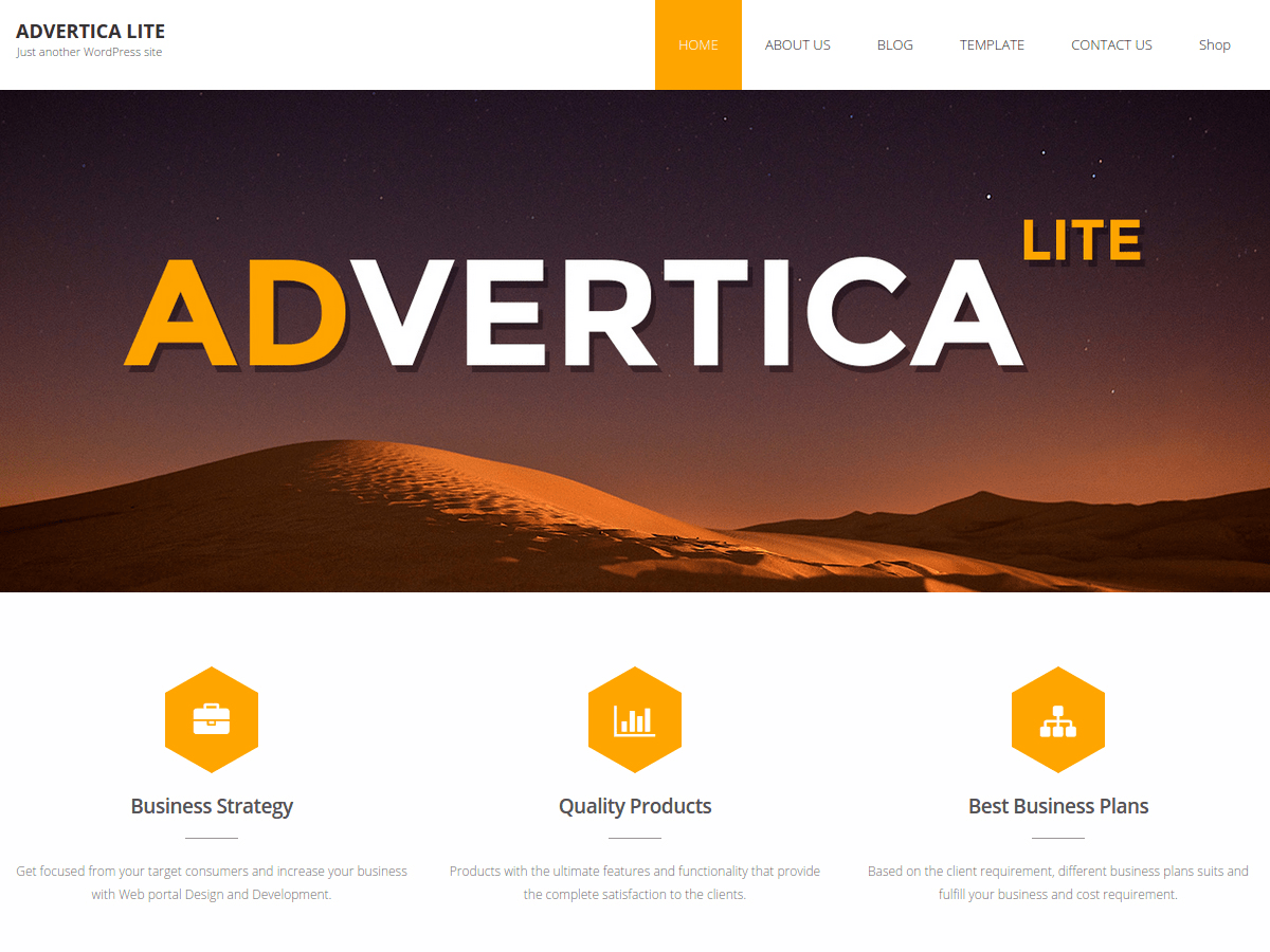 Advertica Lite wordpress theme