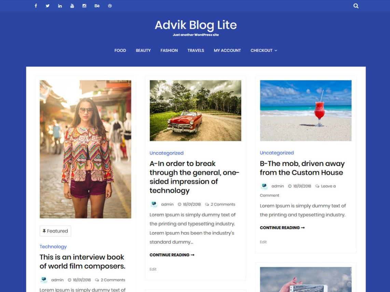 Advik Blog Lite