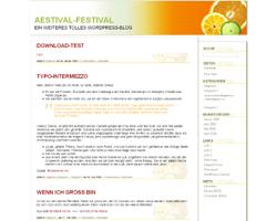 Aestival free wordpress theme