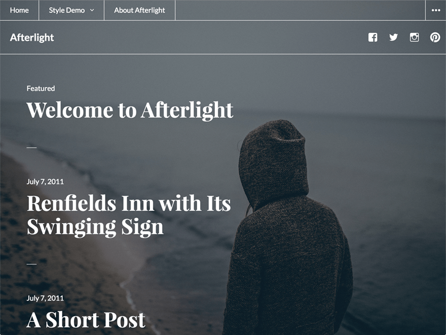 Afterlight free wordpress theme