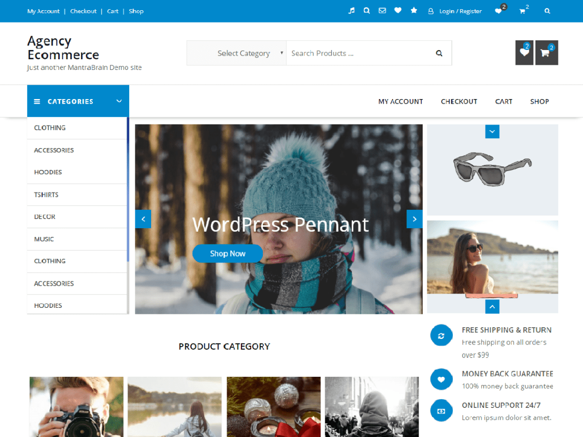 Top 35 Best Free Ecommerce Wordpress Themes Updated Code Themes Co