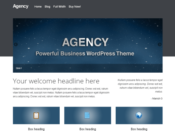 agency wordpress theme