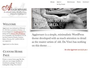 Aggiornare free wordpress theme
