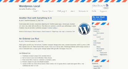 Airmail - par Avion free wordpress theme
