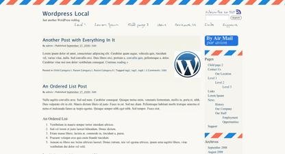 Airmail - par Avion wordpress theme