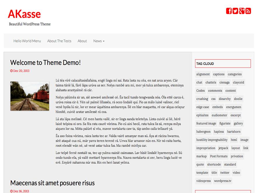 Akasse theme wordpress gratuit