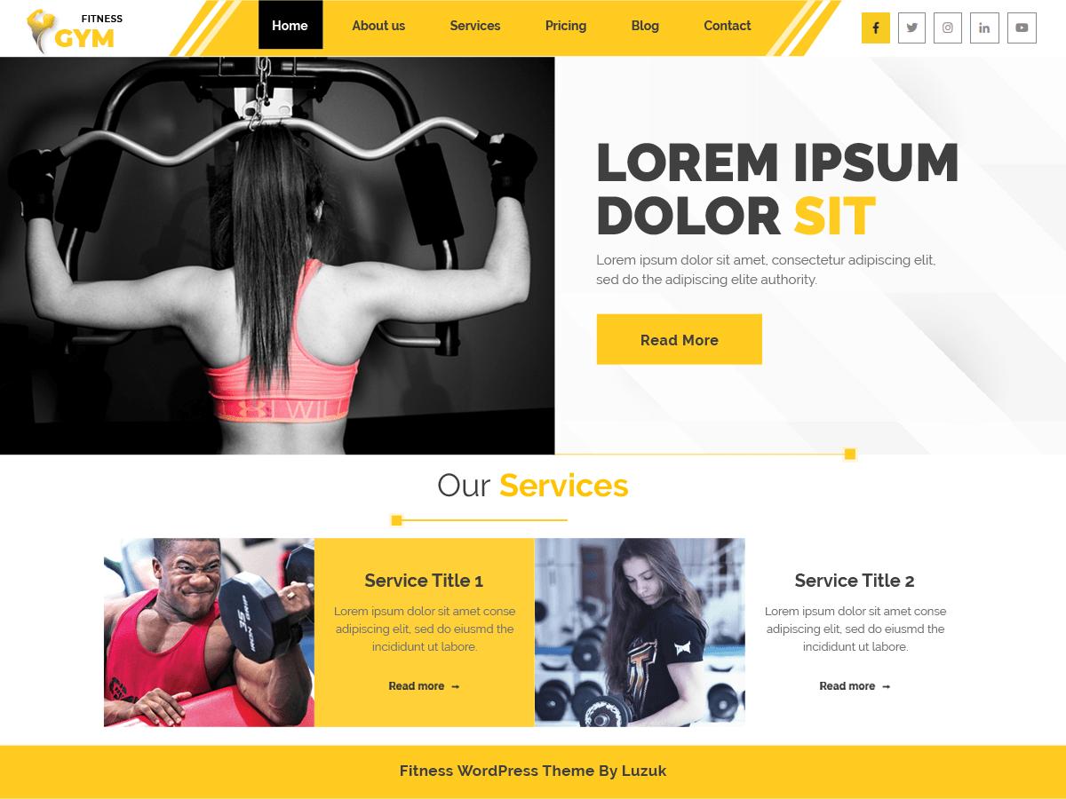 Akhada Fitness Gym Wordpress Theme Wordpress Org