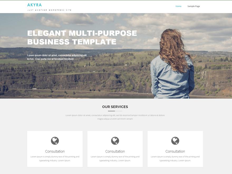 Akyra free wordpress theme
