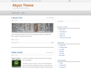 Akyuz free wordpress theme
