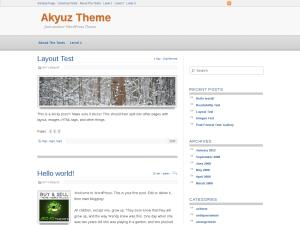 Akyuz wordpress theme