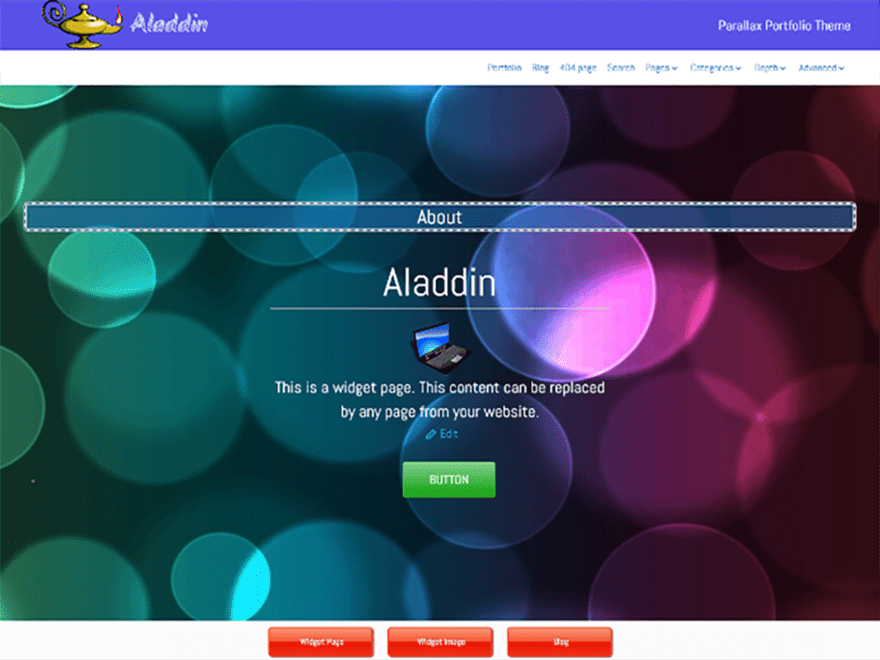 screenshot of Aladdin free WooCommerce theme