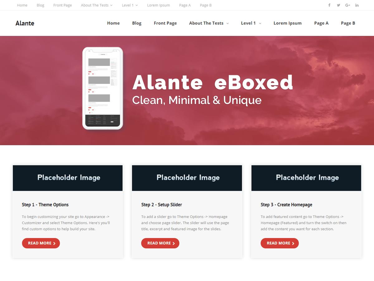WordPress主题:Alante eBoxed