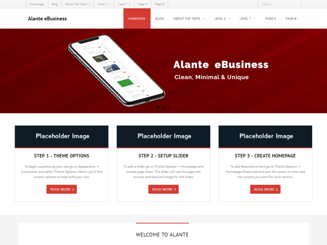 Alante eBusiness Theme Free Download