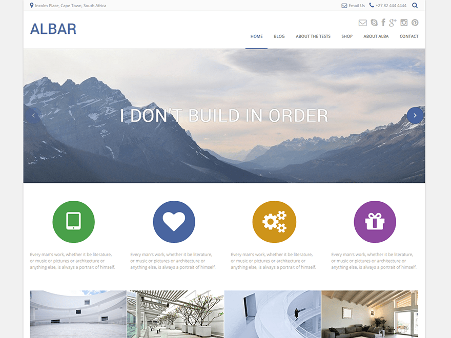 Albar wordpress theme
