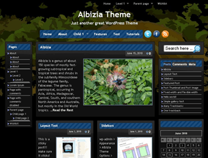 Albizia wordpress theme