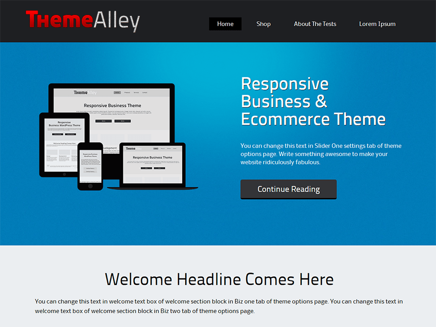 Alexandria wordpress theme