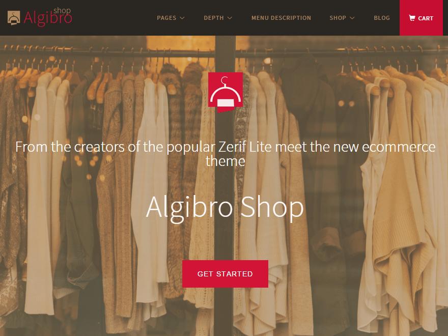 Algibro Shop ecommerce theme