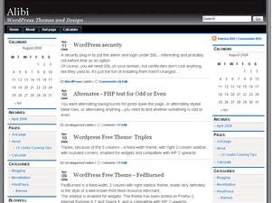alibi3col free wordpress theme