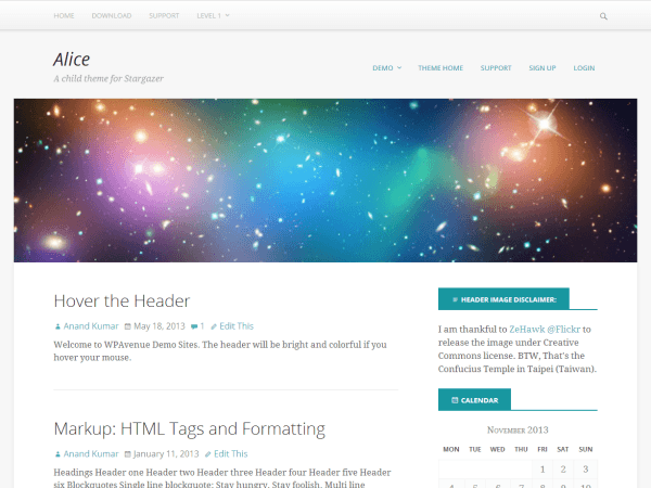Alice theme wordpress gratuit