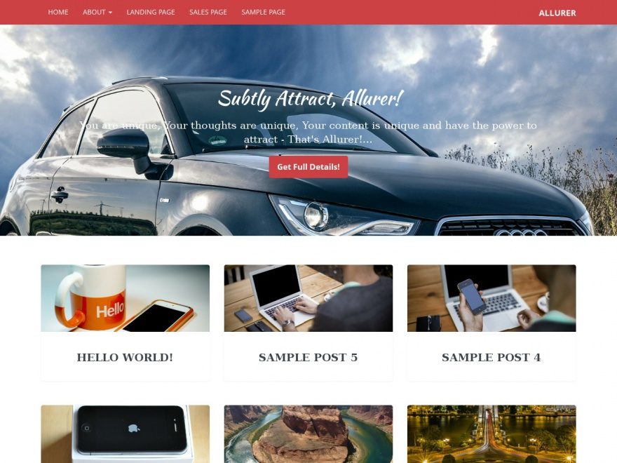 Allurer free wordpress theme