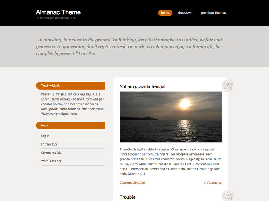 Almanac theme wordpress gratuit