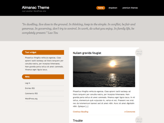 Almanac wordpress theme