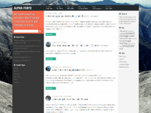 Alpha Forte free wordpress theme