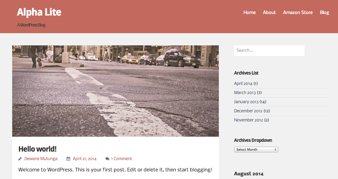 Alpha Lite free wordpress theme