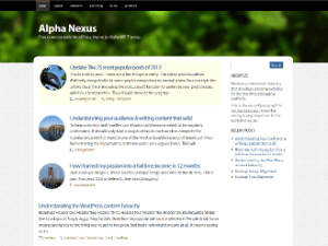 Alpha Nexus theme wordpress gratuit