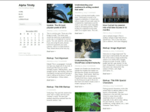 Alpha Trinity free wordpress theme