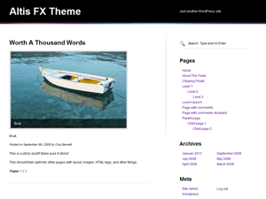 Altis fx free wordpress theme