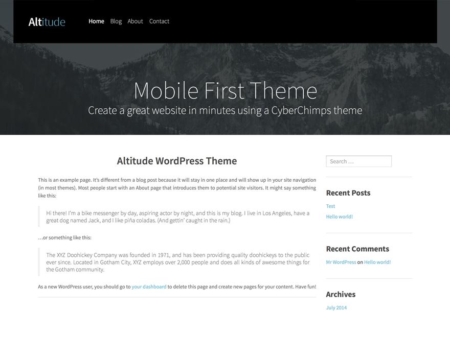 Altitude Lite — Free WordPress Themes