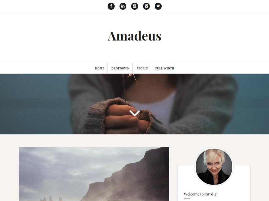 Amadeus free wordpress theme