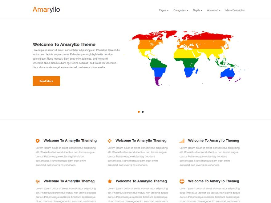 Amaryllo free wordpress theme
