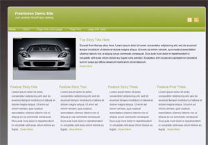 AmberGreen free wordpress theme