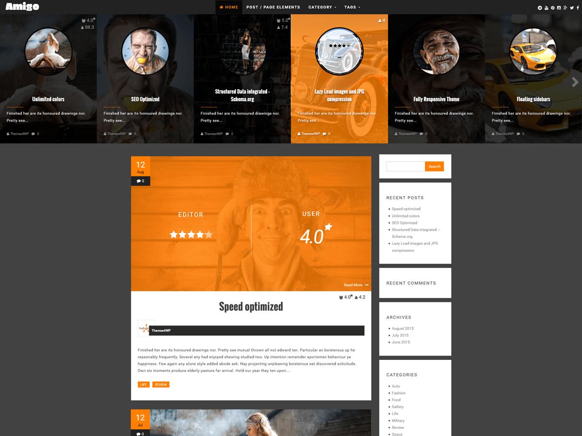 Amigo free wordpress theme