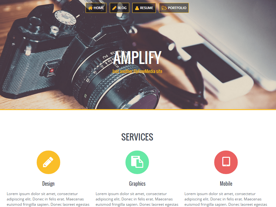 Amplify free wordpress theme
