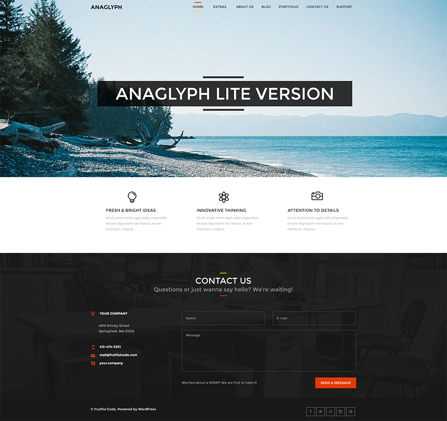 screenshot of Anaglyph Lite free WooCommerce theme