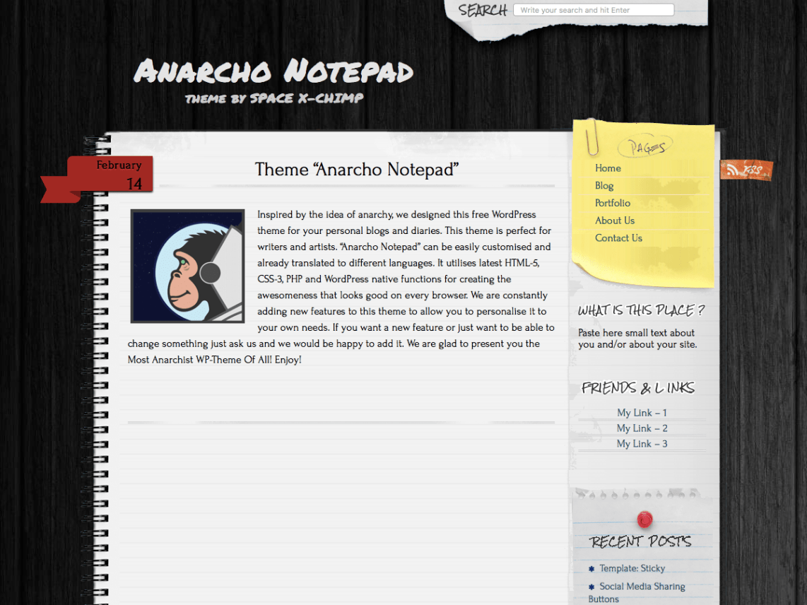 Anarcho Notepad Wordpress