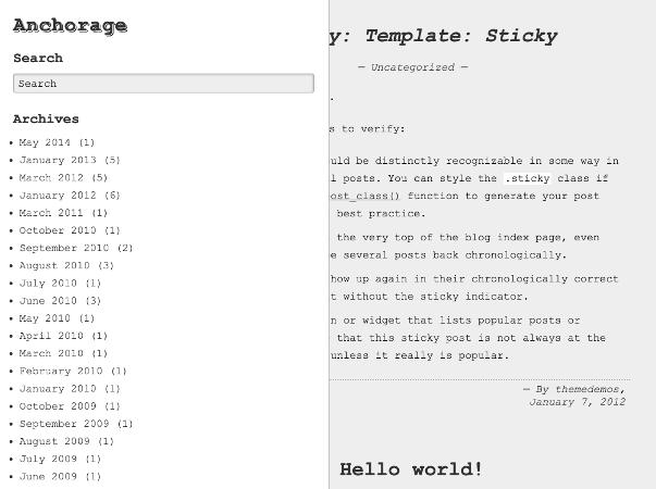 Anchorage theme wordpress gratuit