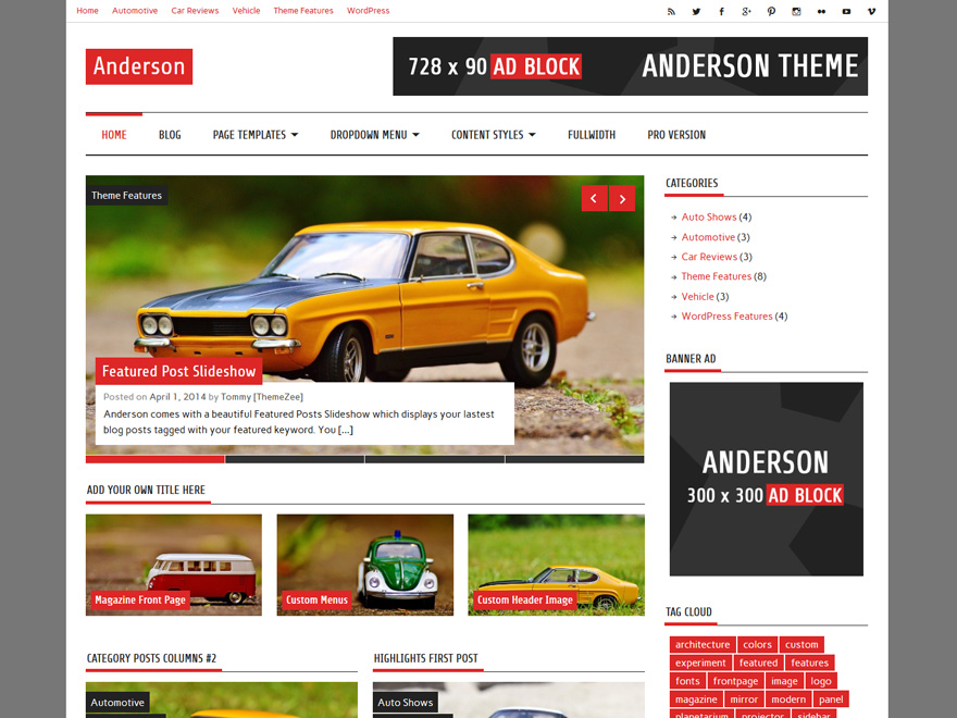 Anderson Lite free wordpress theme