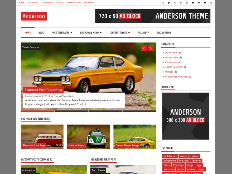 Anderson Lite wordpress theme