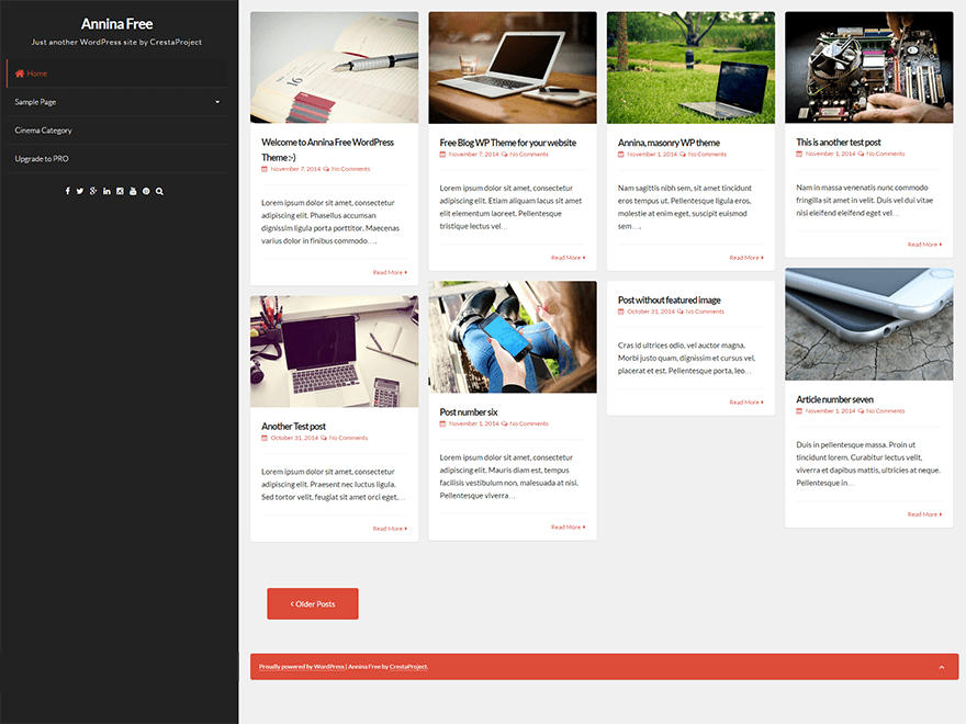 Annina free wordpress theme
