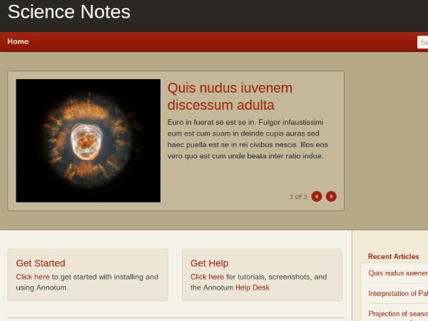 Annotum Sans free wordpress theme