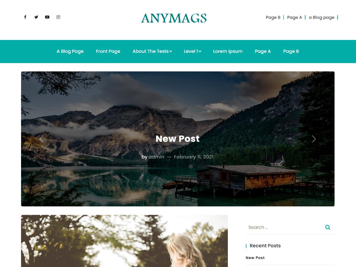 WordPress主题:Anymags