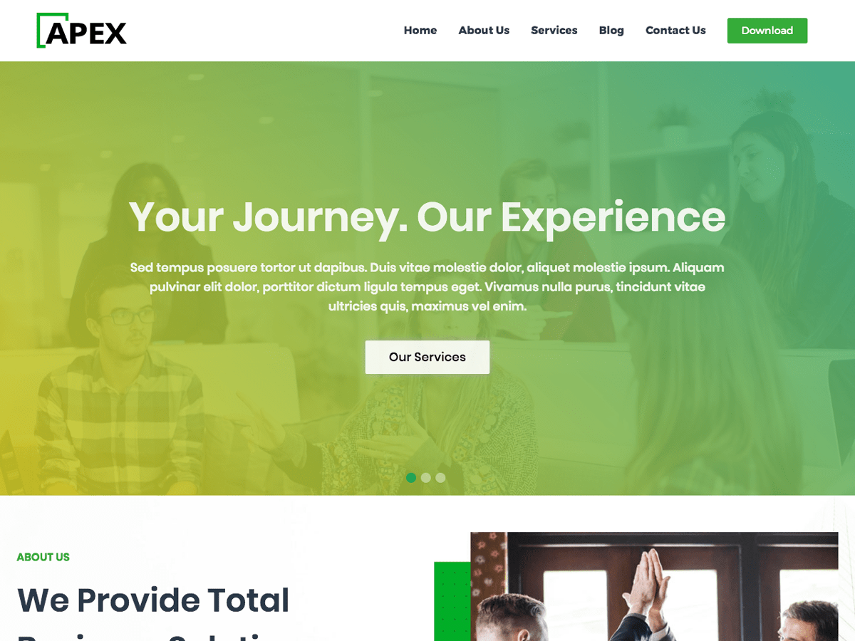 Apex Business WordPress Theme