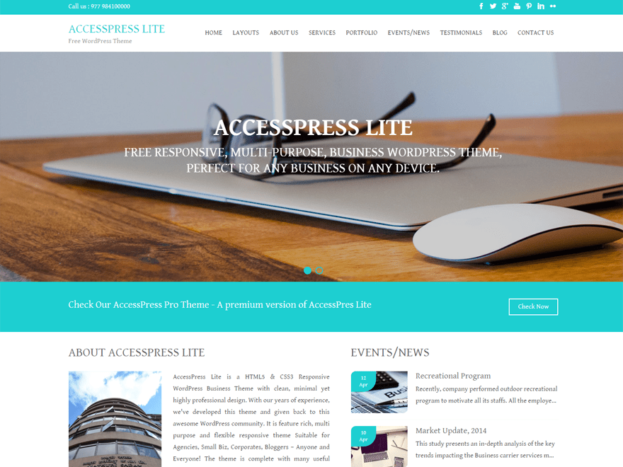 Aplite free wordpress theme
