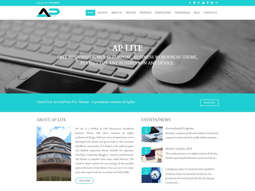 Aplite wordpress theme